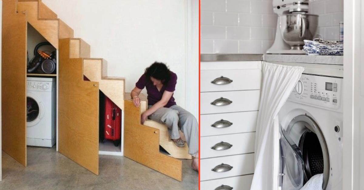 17 idee per nascondere la lavatrice nelle case piccole for Idee per case piccole