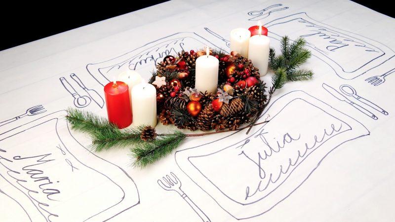 6 Decorazioni Natalizie Fai Da Te Per La Tavola Di Natale