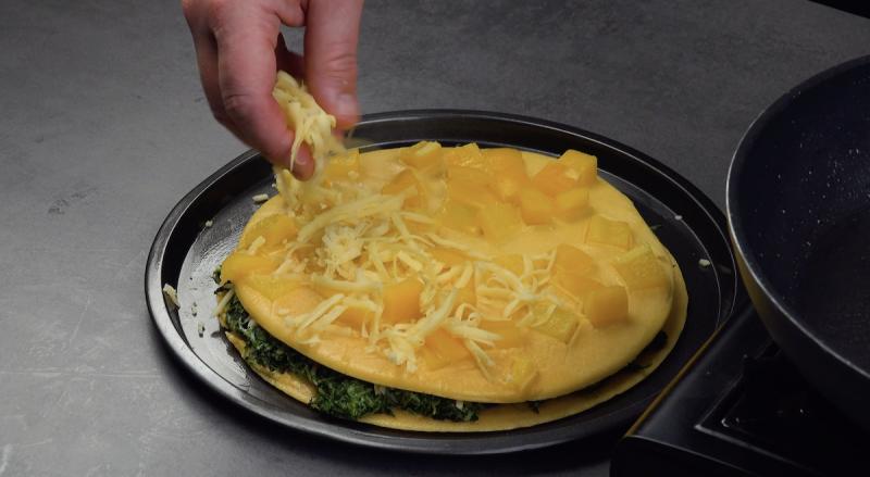 frittata ripiena al peperone giallo