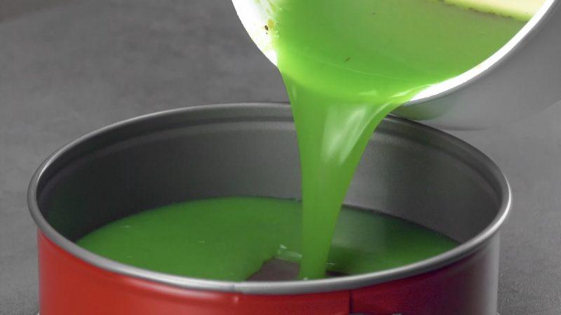 gelatina al kiwi