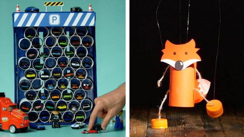Riciclo creativo con i rotoli di carta igienica