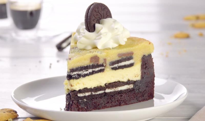 Torta cheesecake al gusto Brownie