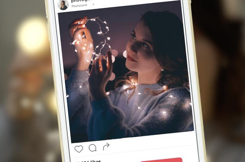 Filtri fotografici con catene luminose