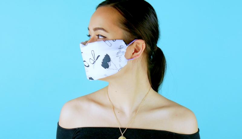 Mascherina riutilizzabile realizzata con bandana