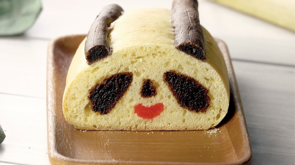 Pane fatto in casa a forma di panda