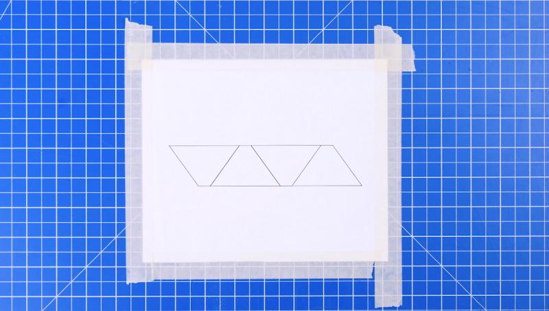 Modello per ologramma attaccato con nastro adesivo