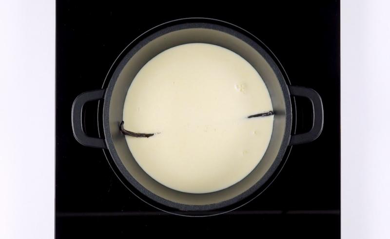 Panna liquida con bacca di vaniglia