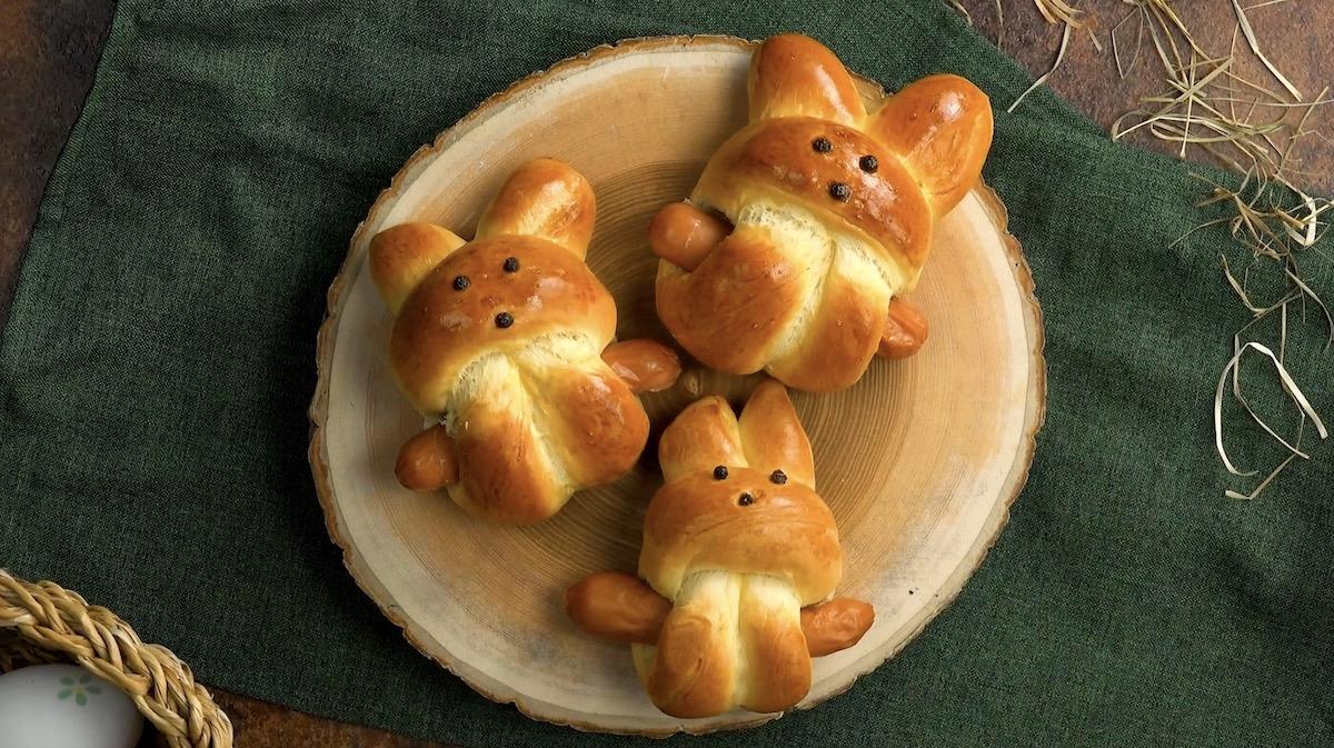 Coniglietti di pasta lievitata