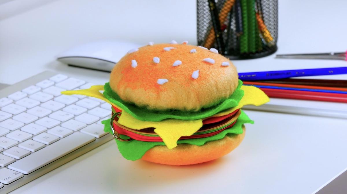 Porta foglietti a forma di hamburger