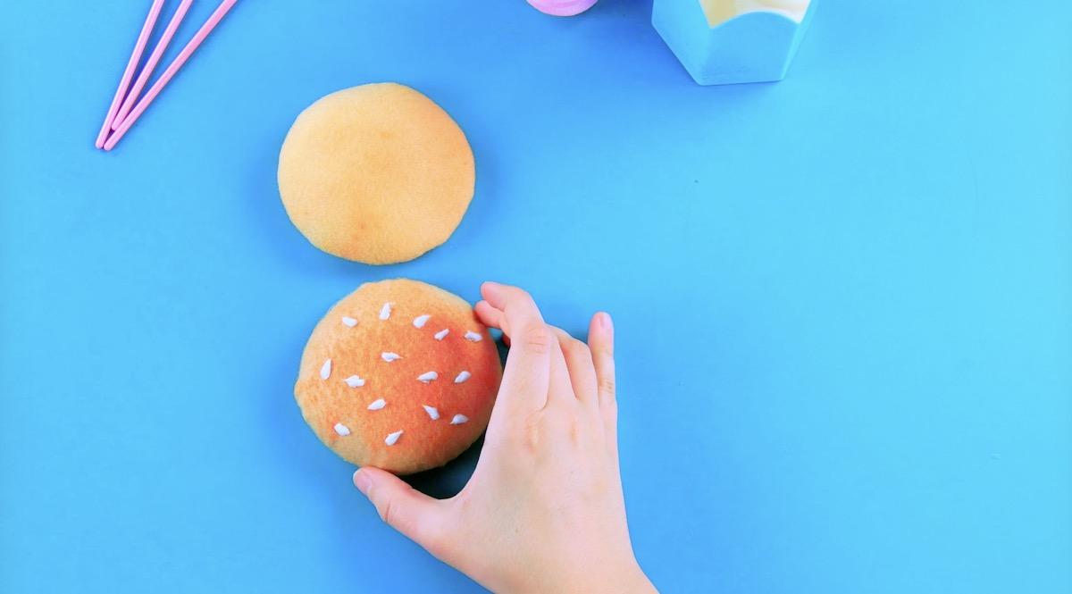 Feltro a forma di panini per hamburger