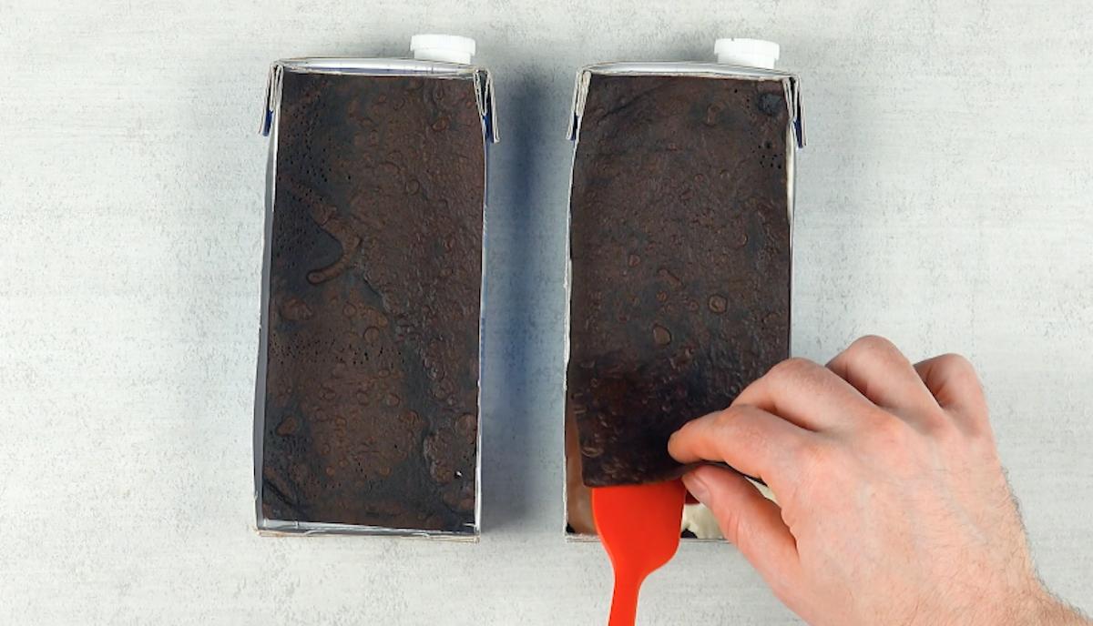 Strato di crepes al cioccolato