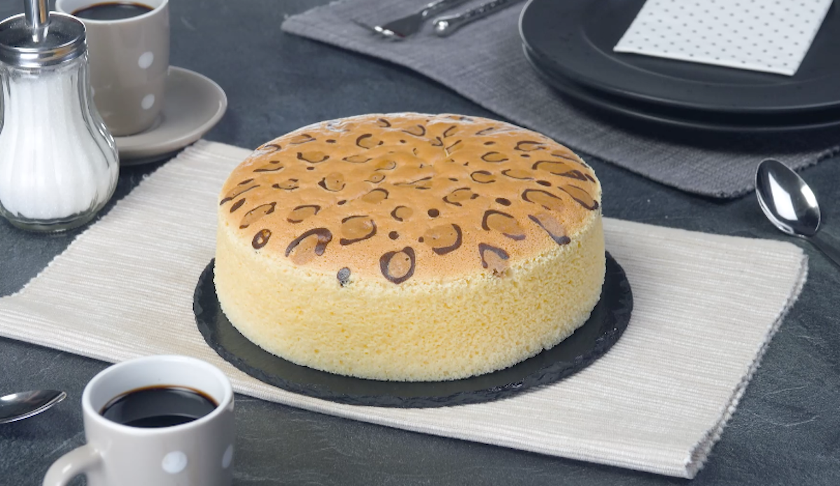 Torta giapponese con fanatsia leopardata al formaggio fresco