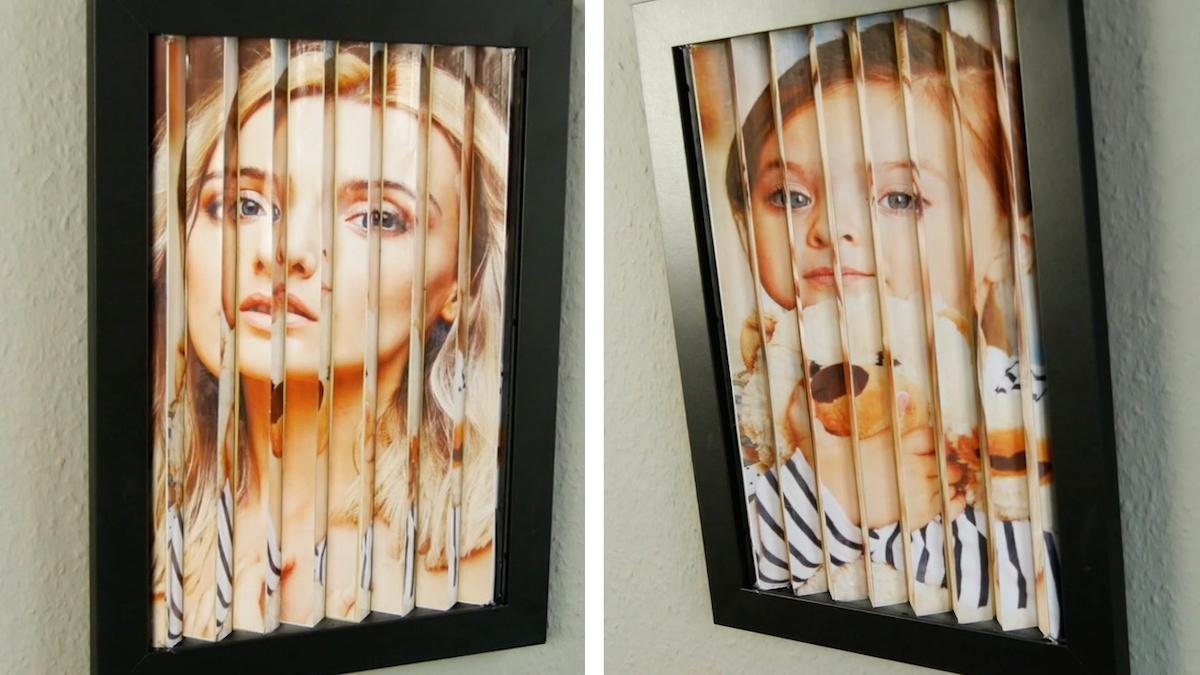 Cornice per foto con illusione ottica