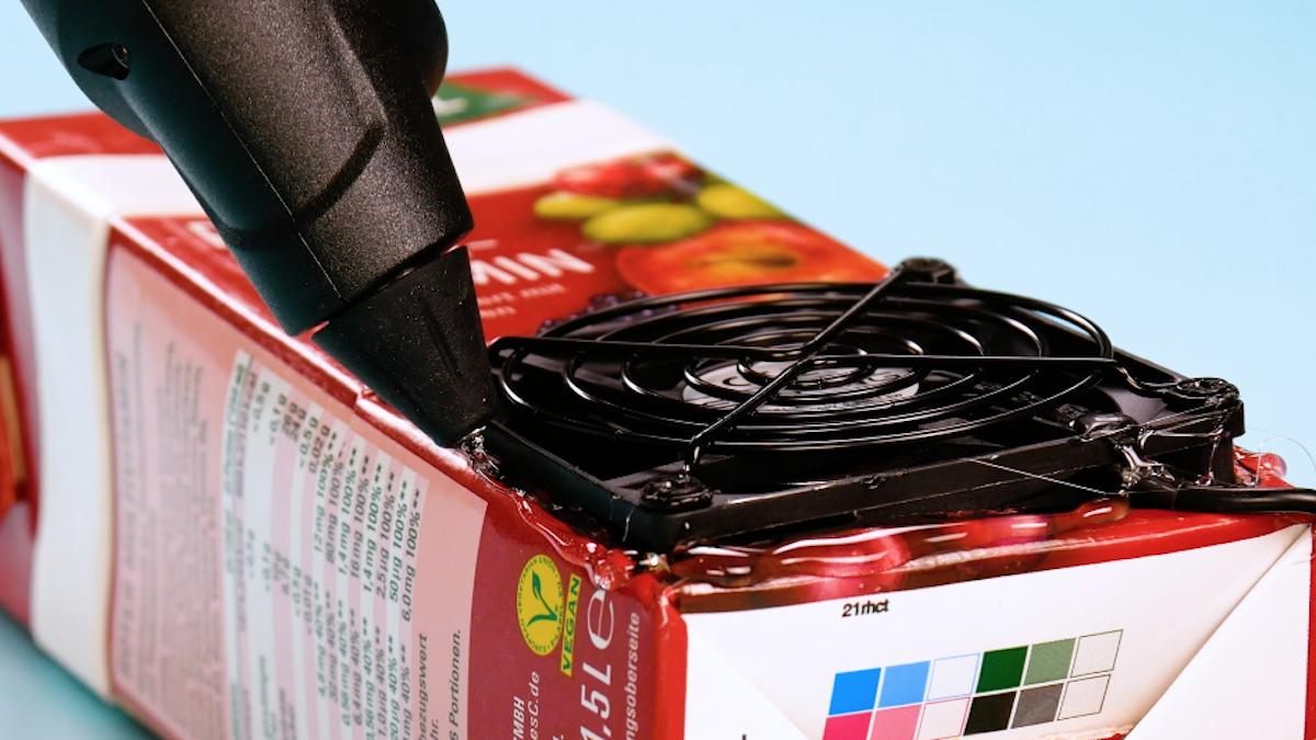 Ventilatore USB nel Tetra Pak