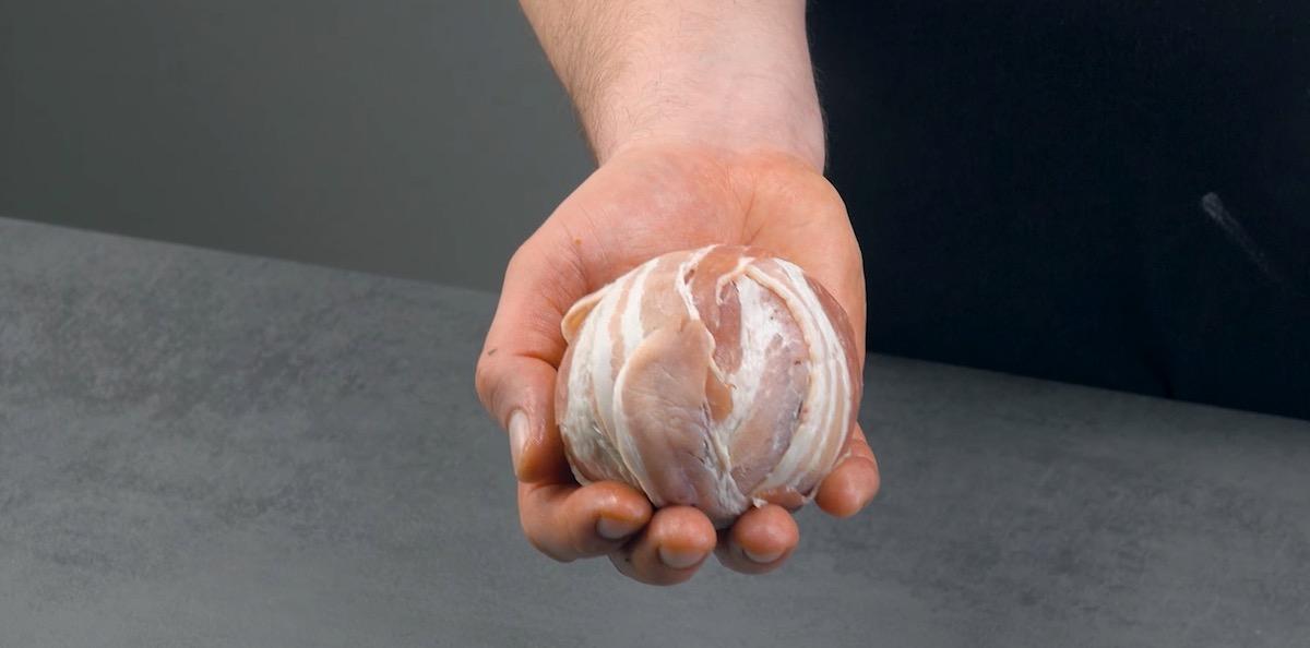 Strato di pancetta tesa
