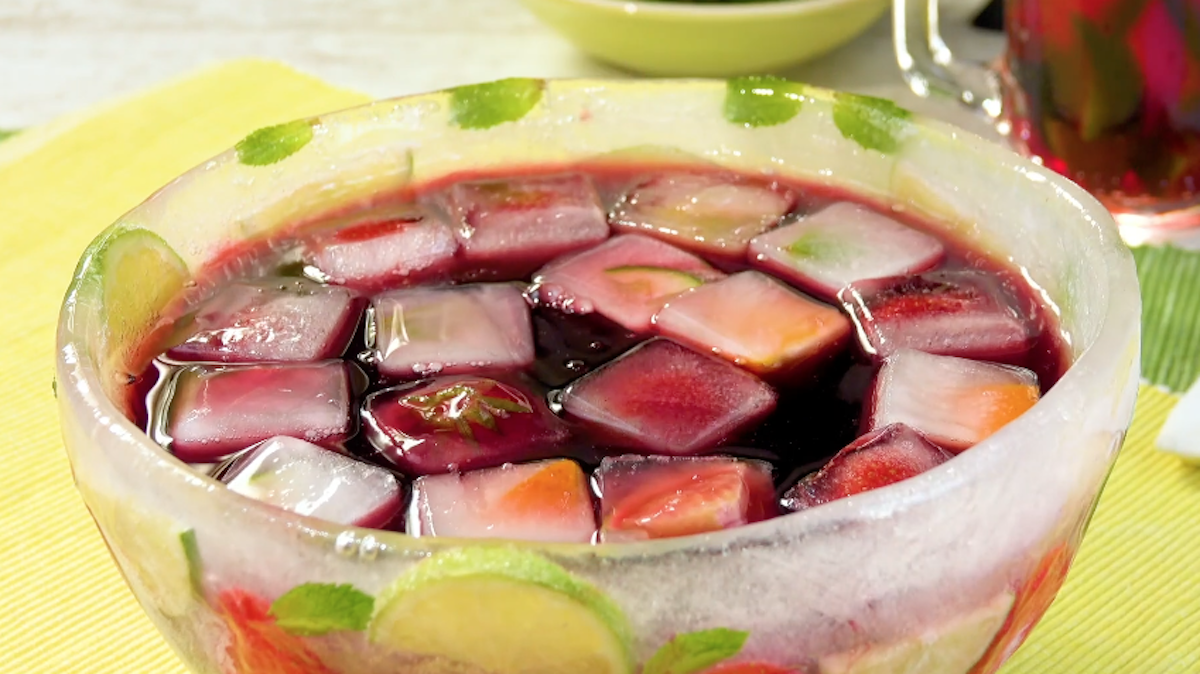 Sangria con frutta fresca