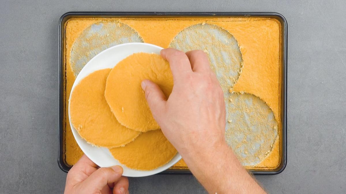 Cerchi di pasta biscotto