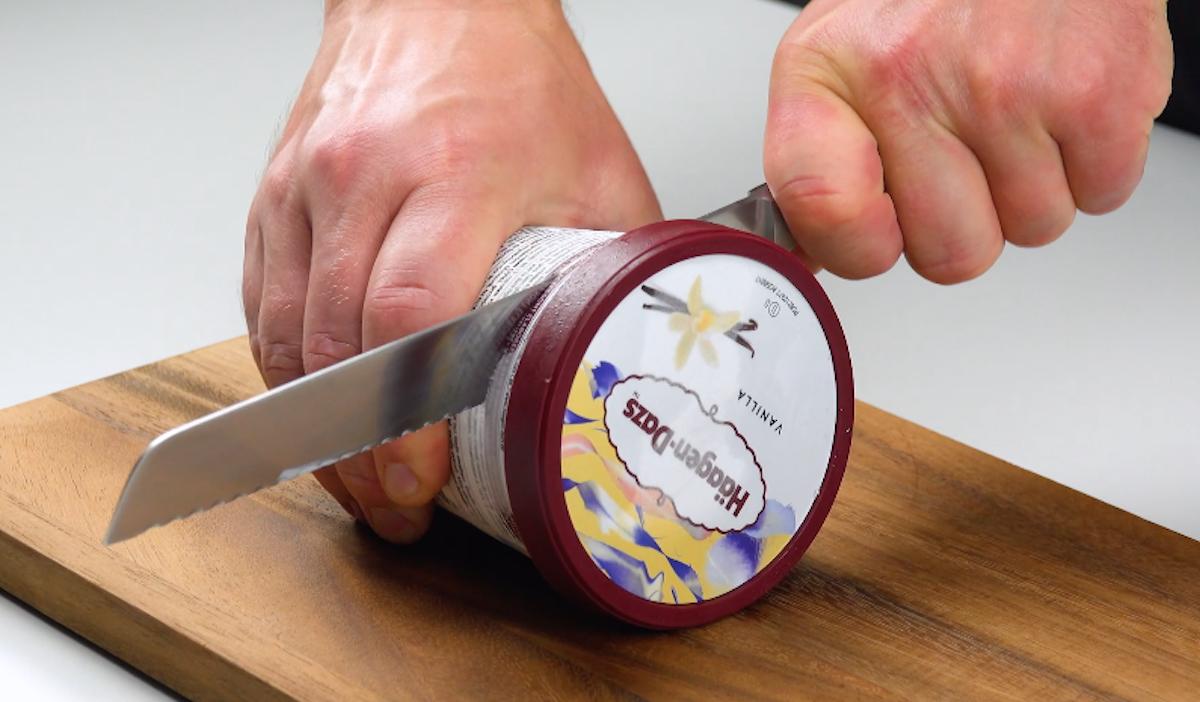 Confezione gelato alla vaniglia