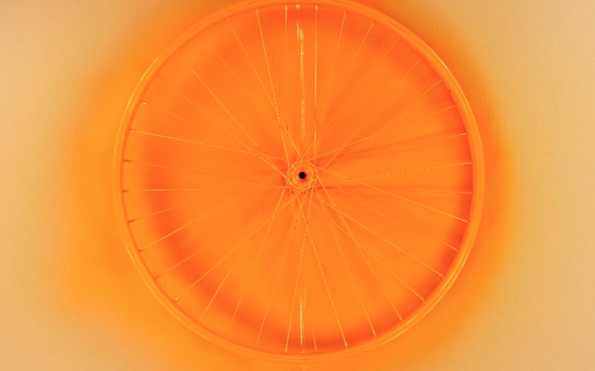 Cerchione bici arancione
