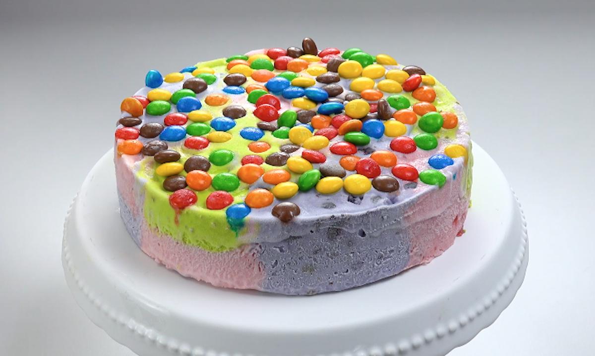 Torta gelato con M&M's