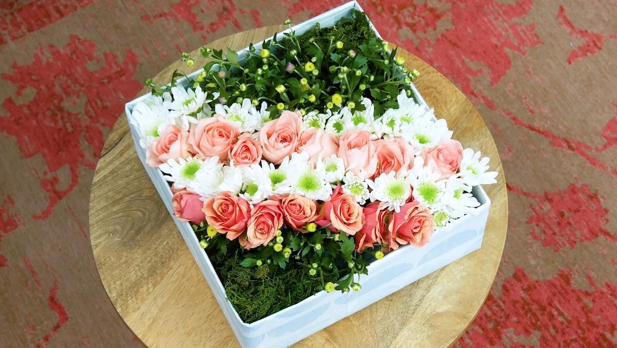 composizione floreale fai da te