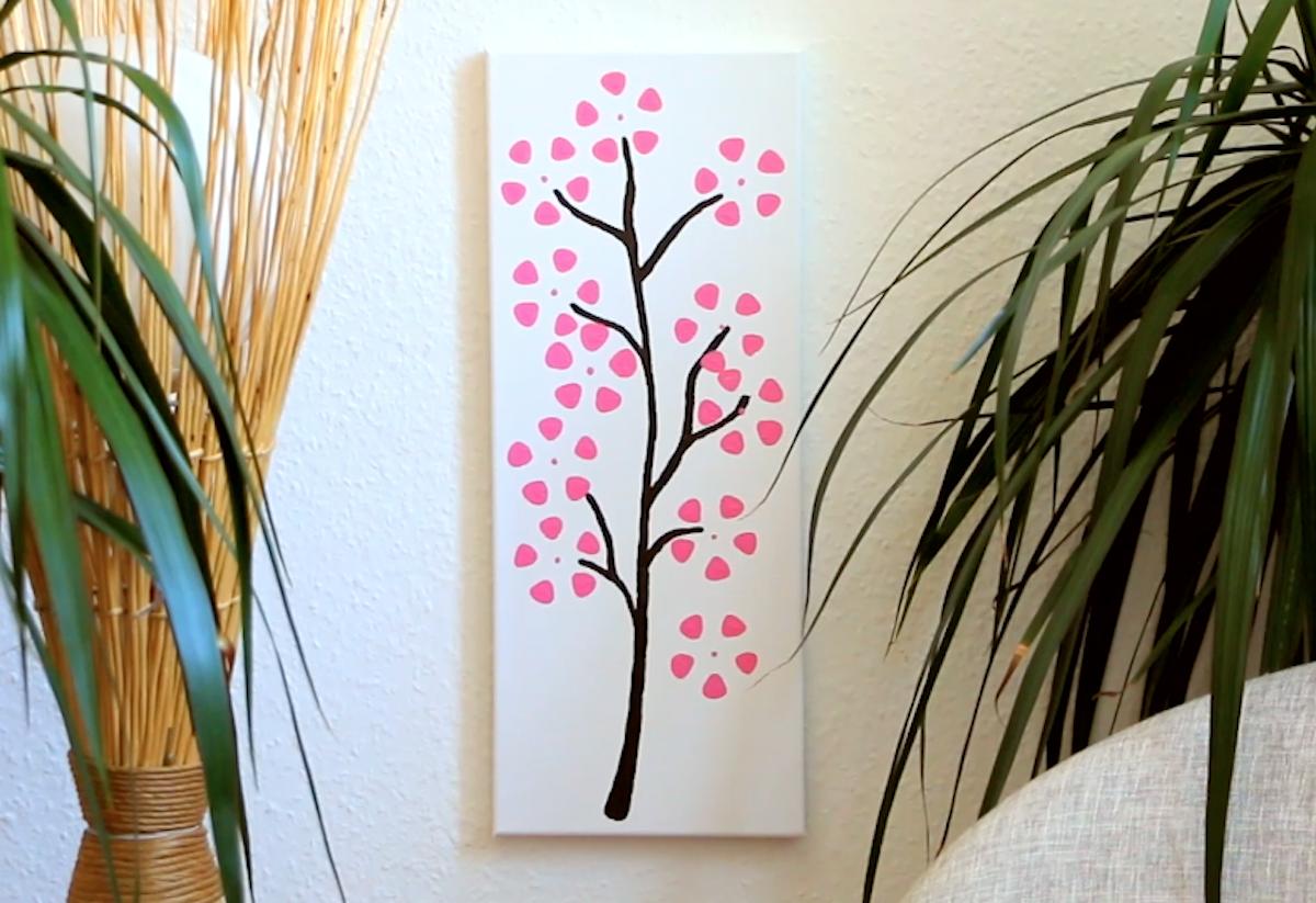 Quadretto di fiori di ciliegio