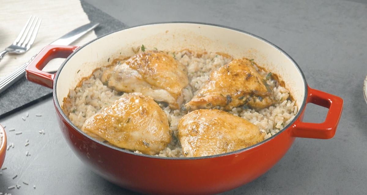 Sovracosce di pollo alla paprika e riso