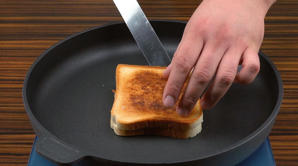 Pane tostato in padella