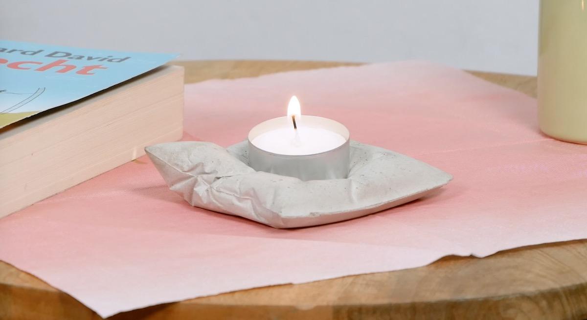 Porta candele fai da te in cemento