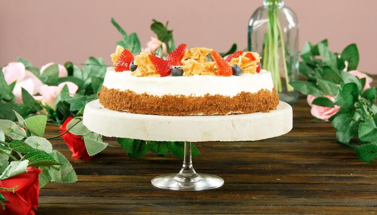 Vassoio per torte in calcestruzzo