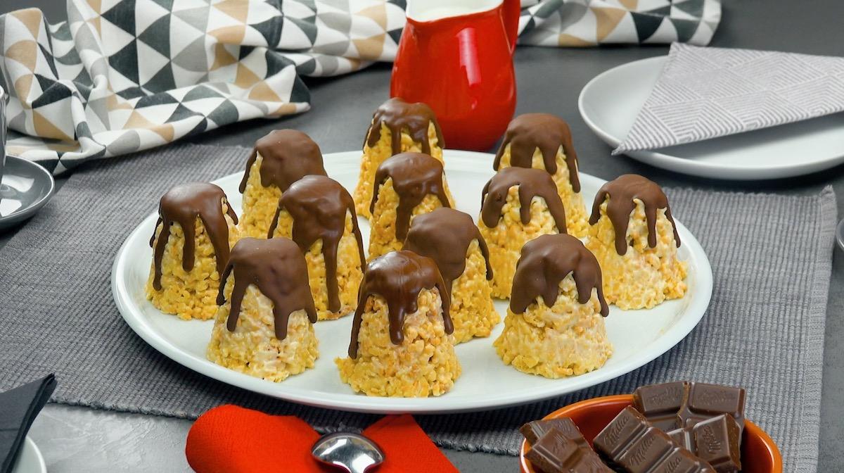 Dolcetti al cioccolato con briciole di pasta frolla