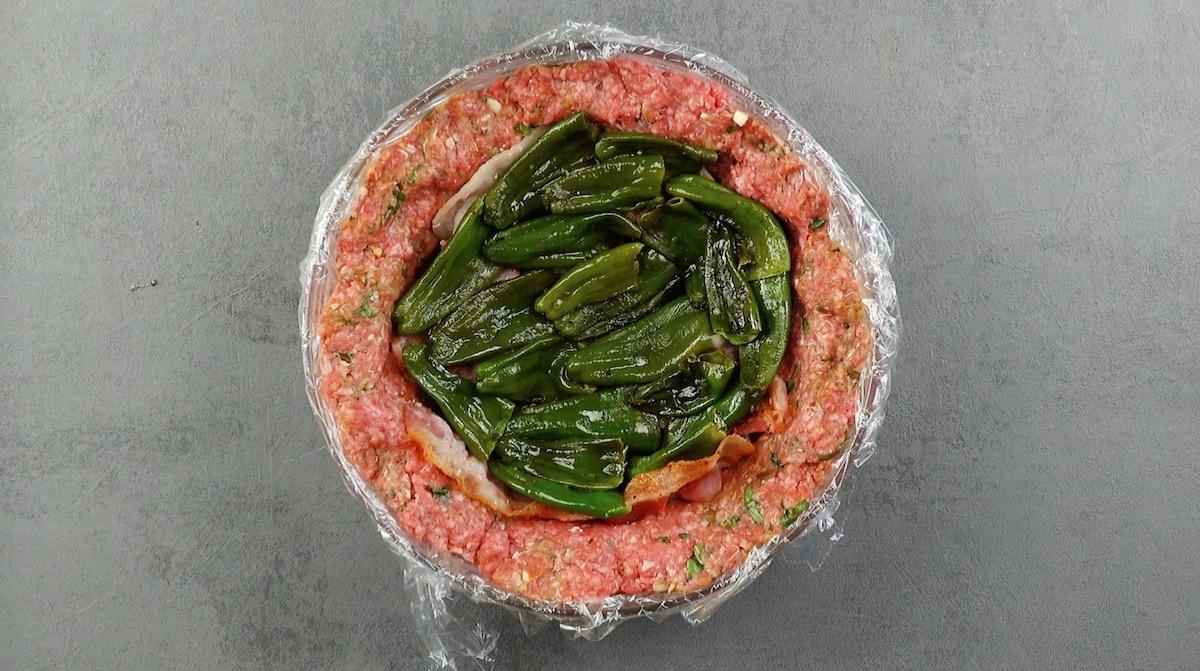 Carne macinata pancetta e friggitelli