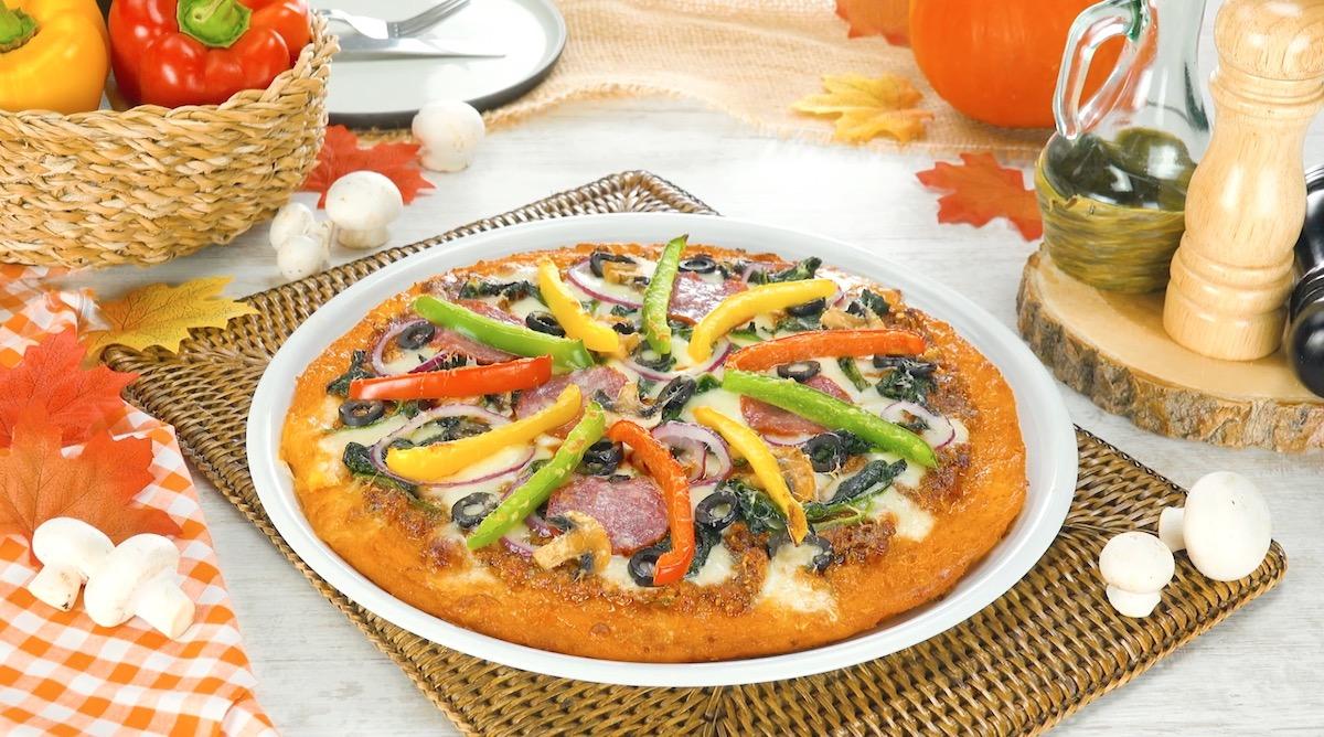 Pizza di zucca violina