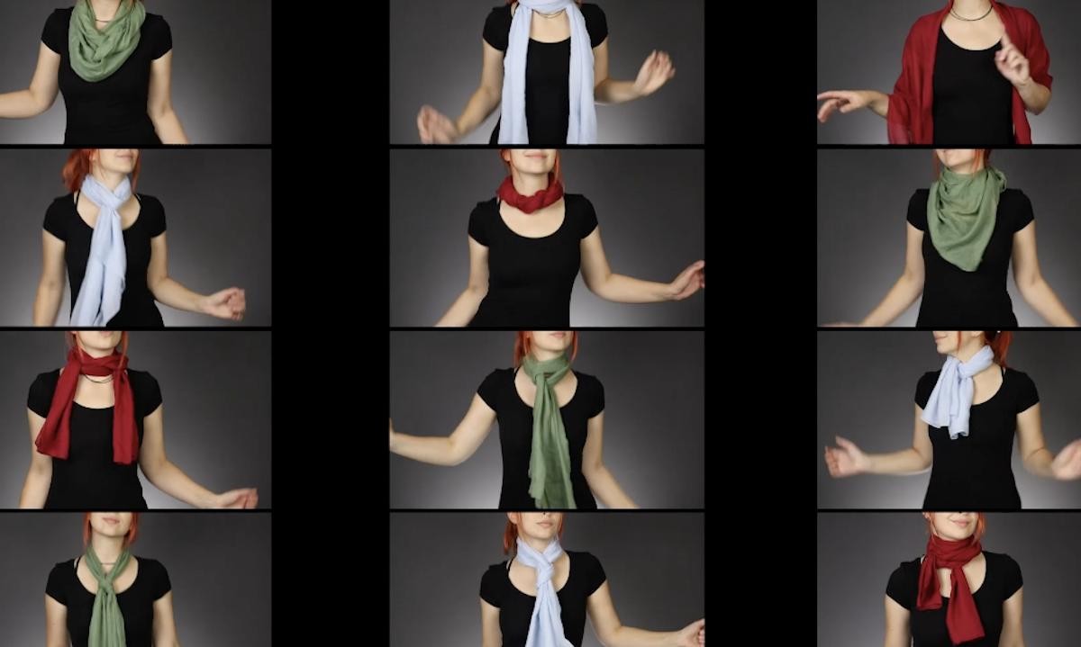 12 modi creativi di legare un foulard al collo