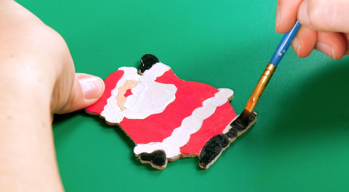 Babbo Natale in legno compensato