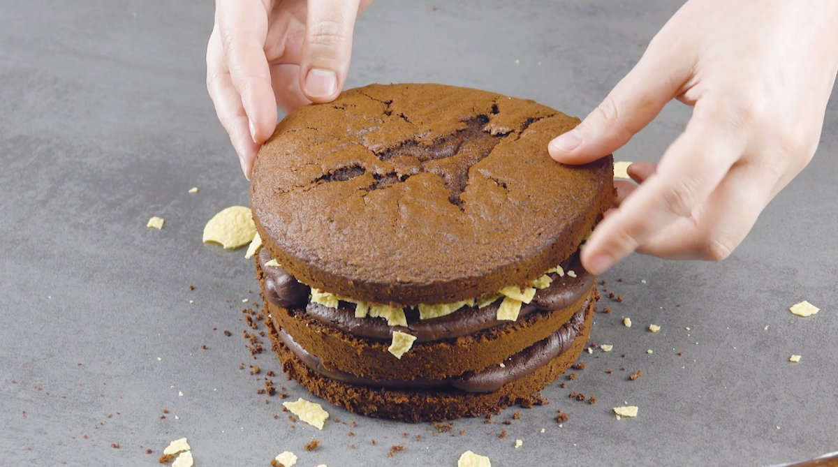 Torta al cioccolato a strati