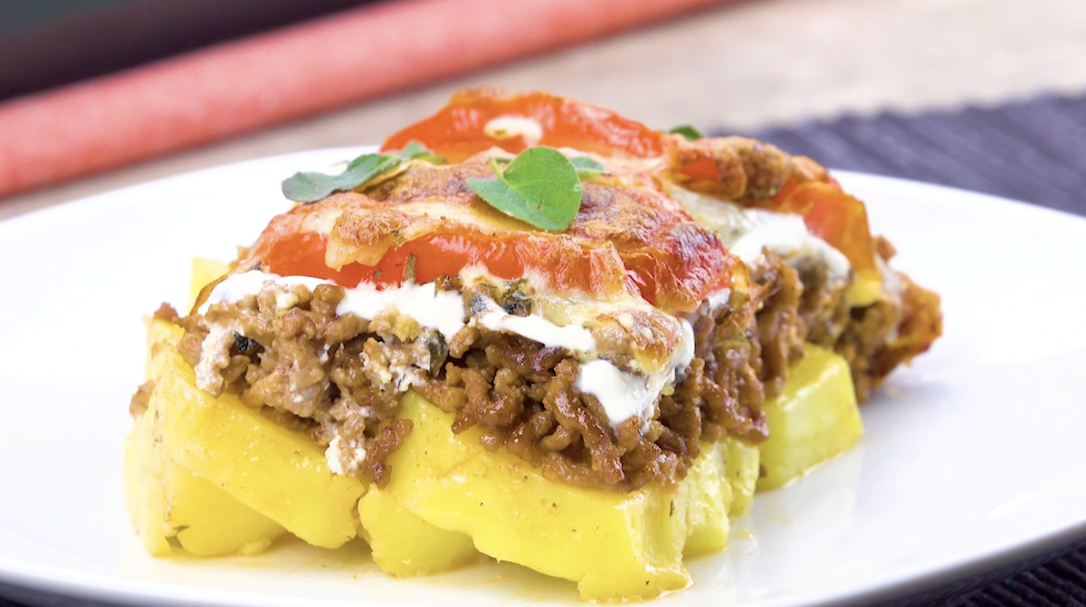Tortino di patate e carne macinata