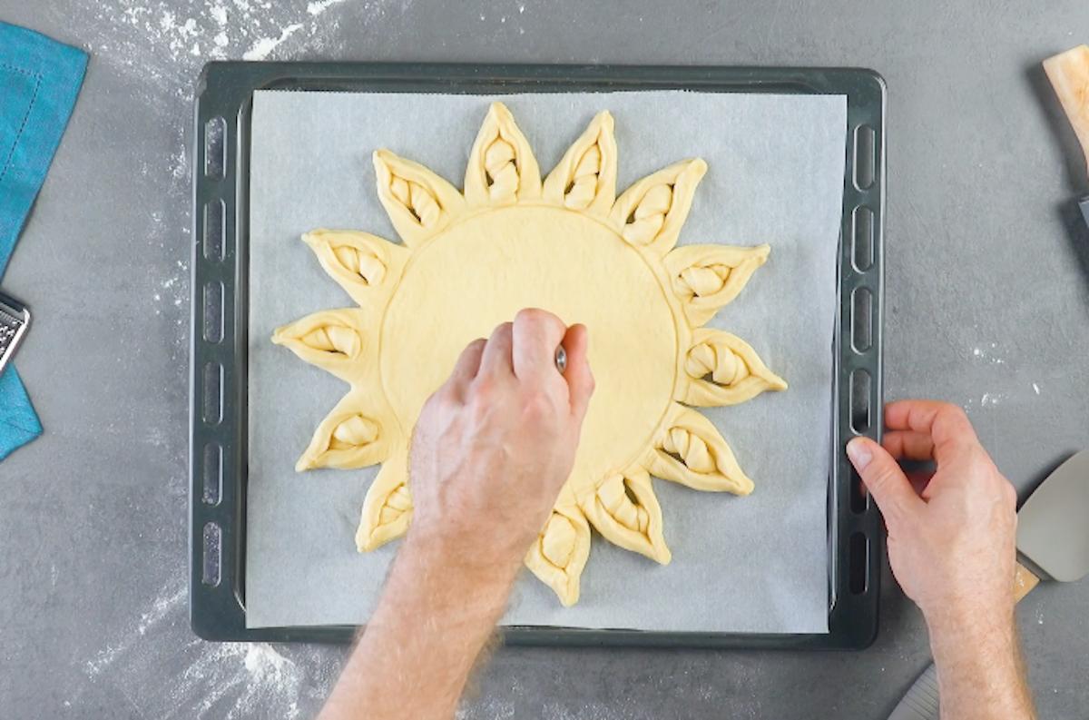 Pasta sfoglia a forma di sole