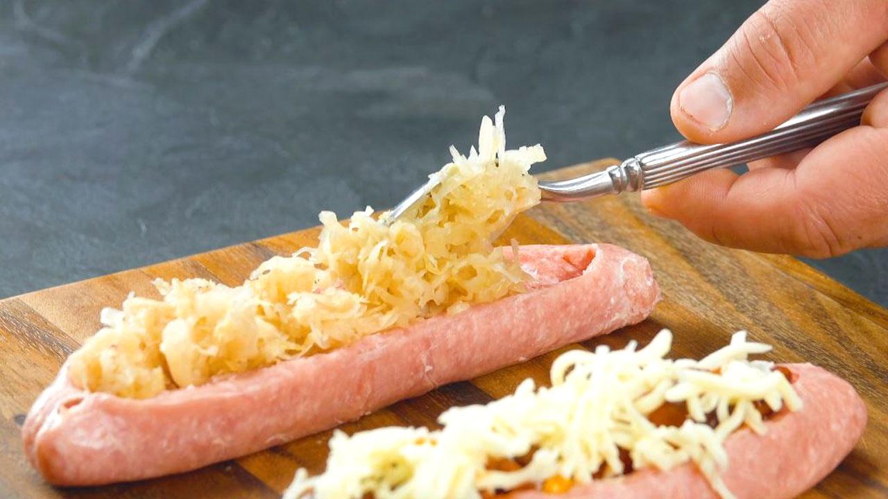 Salsiccia con crauti tedeschi