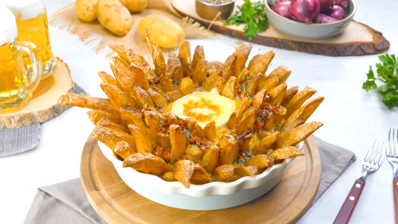 Frittata al forno con patate fritte e Camembert