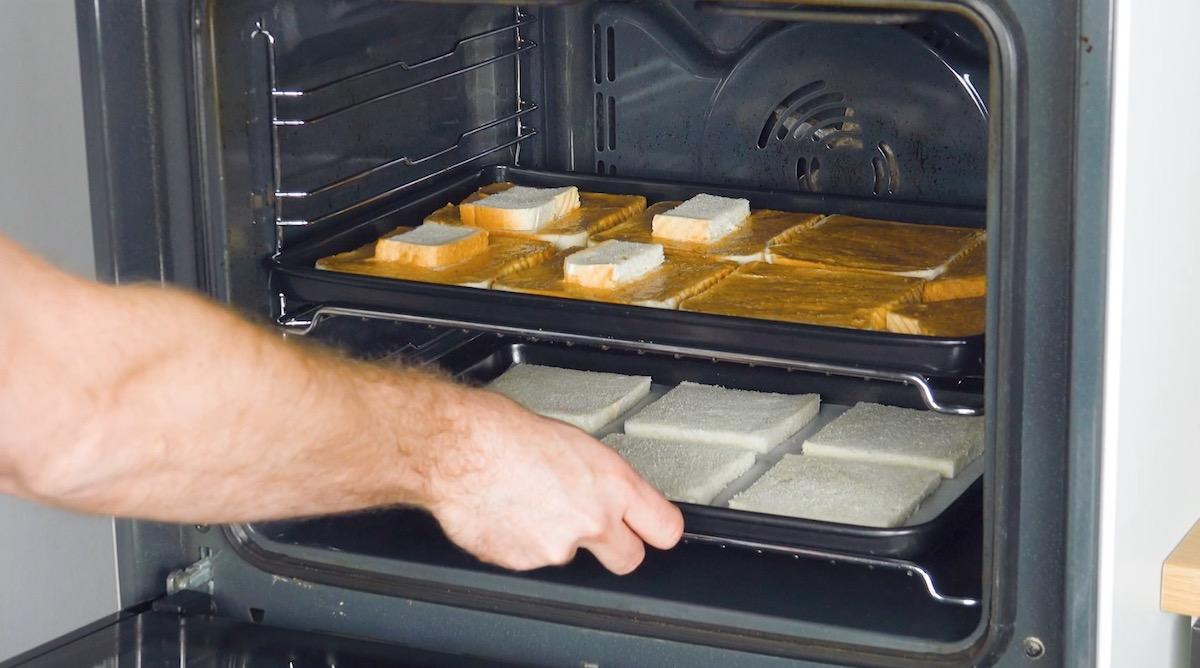 Fette di pancarrè in forno