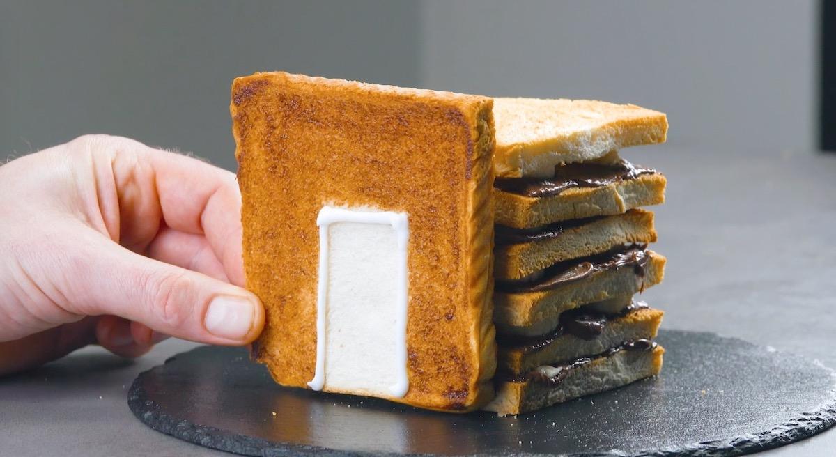 Casetta di pane tostato