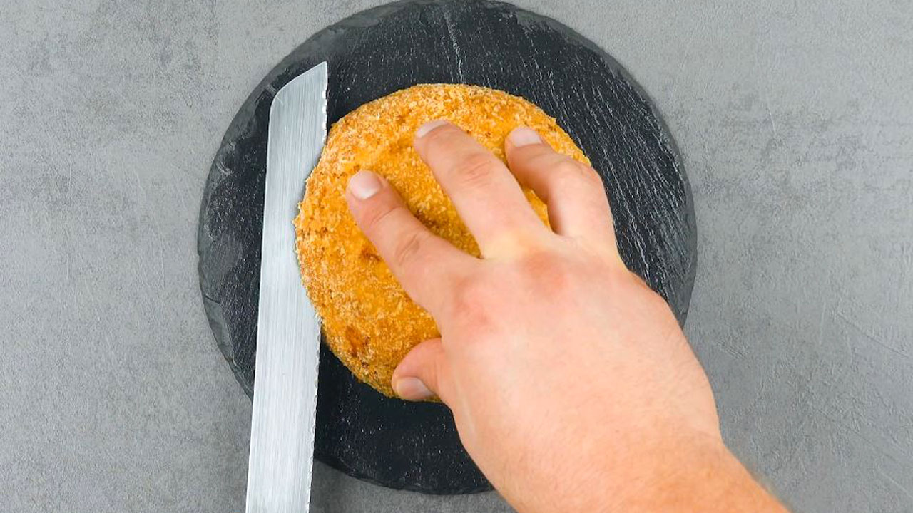 Petto di pollo impanato e fritto