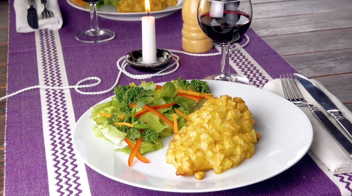 Cordon bleu in crosta di patate