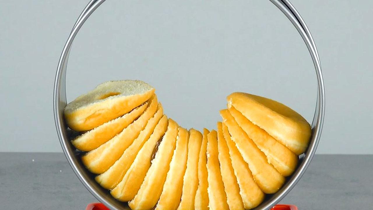 Ciambelle dolci disposte nell'anello