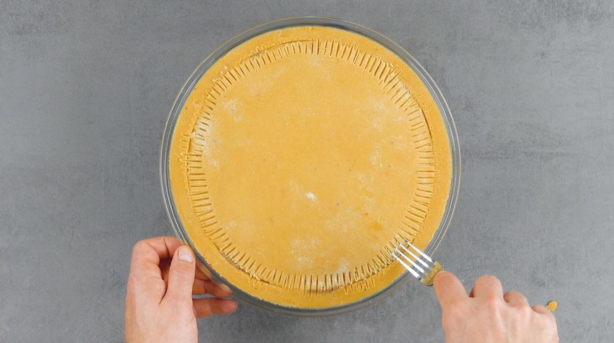 Pasta frolla unita con rembi di forchetta
