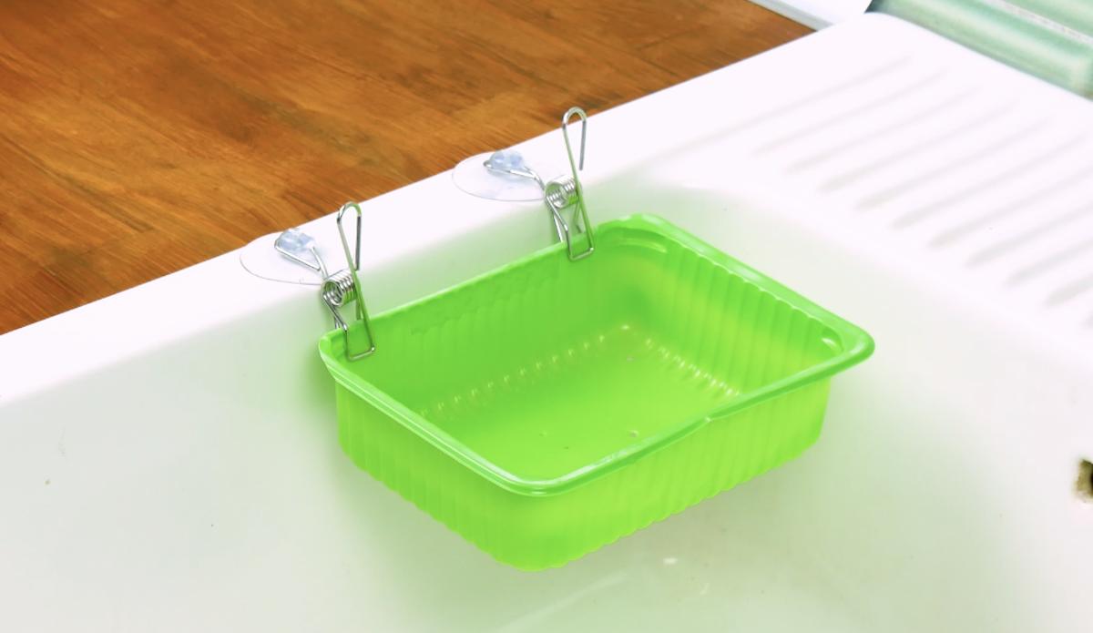 Vaschetta per non intasare lo scarico lavandino