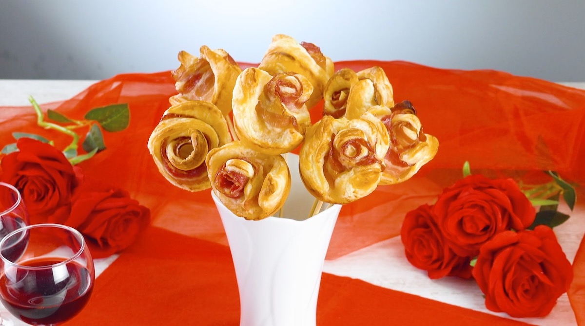 Bouquet di fiori di pasta sfoglia