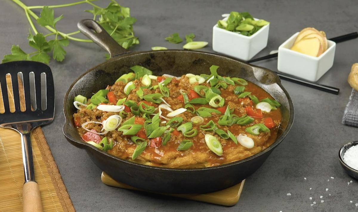Ricetta omelette asiatica