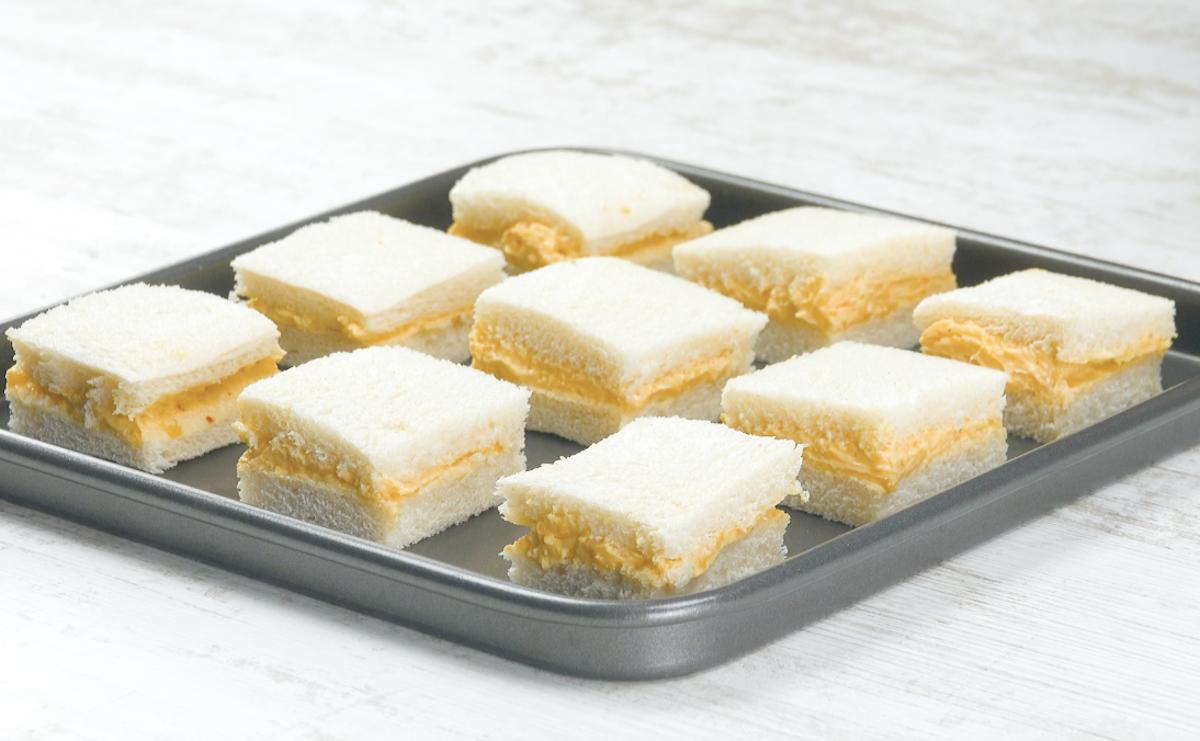 Panini con crema al formaggio